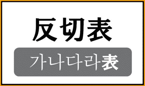 反切表(カナタラ表)