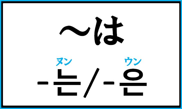助詞「は」の韓国語「는/은」の使い分けについて例文を見ながら解説