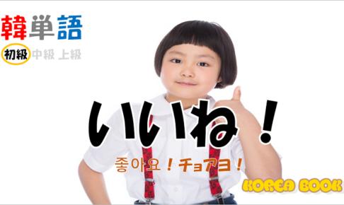 韓国語単語「いいね!」を解説