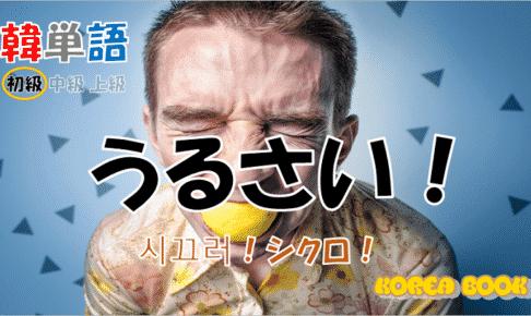 韓国語単語「うるさい」を解説