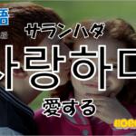 韓国語単語「사랑하다」を解説