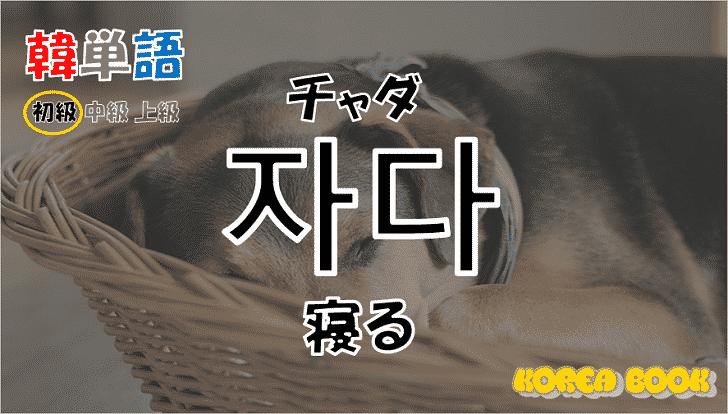 韓国語単語「자다」を解説