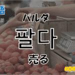 韓国語単語「팔다」を解説
