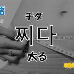 韓国語単語「찌다」を解説