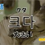 韓国語単語「크다」を解説
