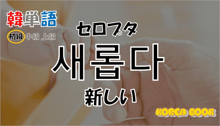 韓国語単語「새롭다」を解説