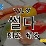 韓国語単語「썰닽」を解説