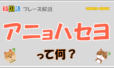「アニョハセヨ」を解説