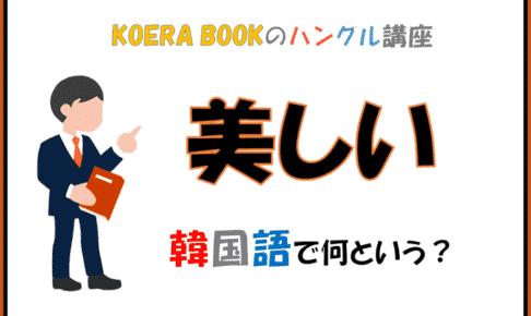 「美しい」を韓国語で何というか解説!ハングルを勉強しよう!