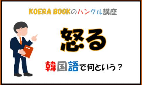 「怒る」を韓国語で何というか解説!ハングルを勉強しよう!