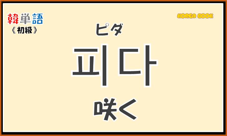 韓国語単語「피다」を解説