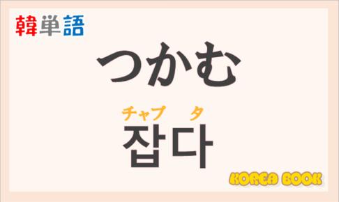 「つかむ」の韓国語は?ハングル「잡다(チャプタ)」の意味と使い方を解説!