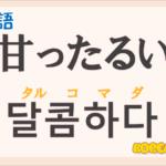 「甘ったるい」の韓国語は?ハングル「달콤하다」の意味と使い方を解説!