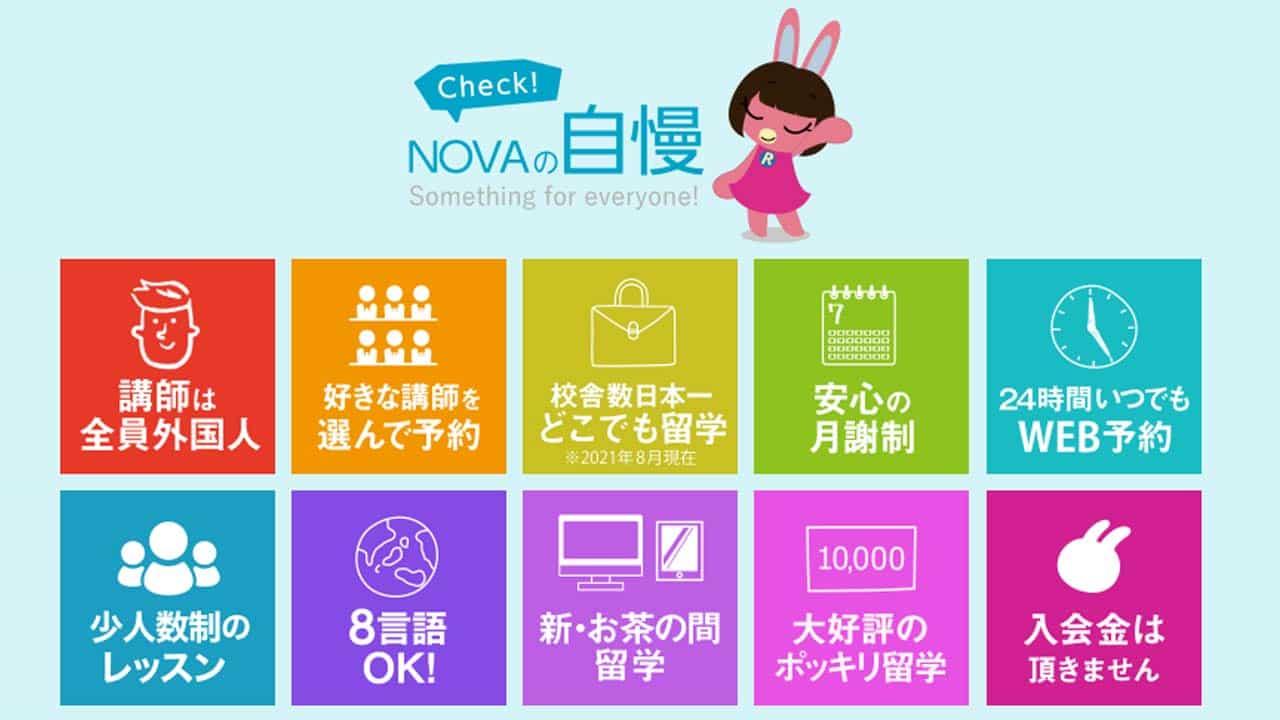 NOVAの韓国語レッスンの特徴