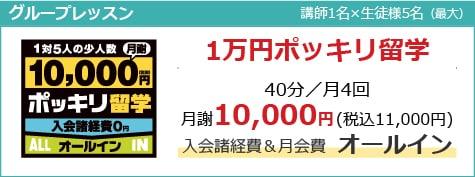 特徴4:レッスン料は月4回11,000円ポッキリからのお手頃価格